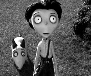 frankenweenie and black and white image