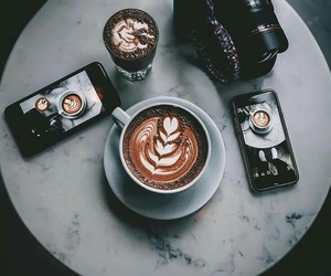 coffee, camera, and photography image