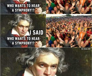 funny, stuff, and Beethoven image