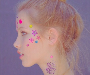 girl, stars, and pastel image