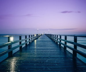 sea, purple, and blue image