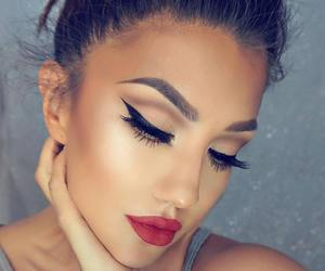 make up, beauty, and makeup image