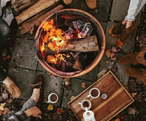 coffee, fall, and friendship image
