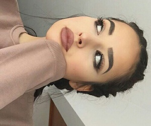 makeup, pretty, and eyebrows on fleek image