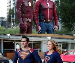 flash, kara danvers, and Supergirl image