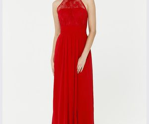 red cheap bridesmaid gown and red bridesmaid dresses image