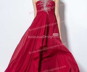 red bridesmaid dresses and red cheap bridesmaid gown image