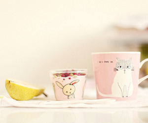 cup, pink, and cat image