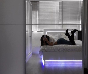 bed, cool, and lights image