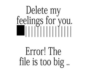 delete, love, and error image