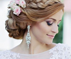 wedding, hair, and Prom image