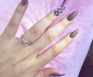 pink, promise ring, and nude nails image