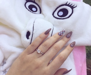 unicorn, promise ring, and nude nails image