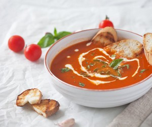 bread, delicious, and soup image