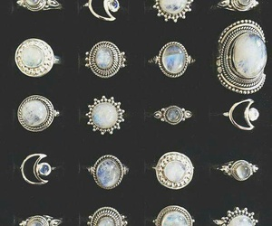 rings, jewelry, and moon image