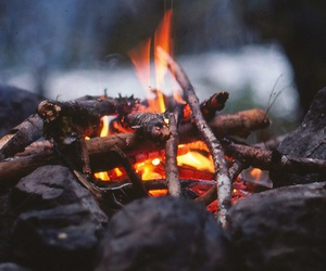fire, landscape, and nature image