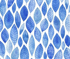 blue, leaves, and pattern image