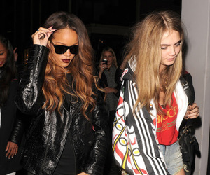 rihanna, model, and cara delevingne image