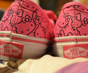 vans, hello kitty, and pink image