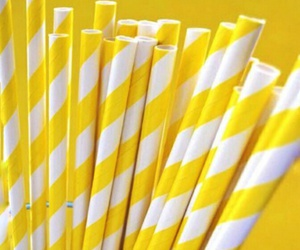 yellow, straw, and aesthetic image