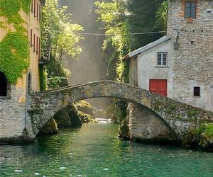 italy, bridge, and travel image