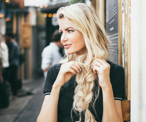 blonde, fashion, and long hair image