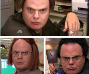 dwight schrute, funny, and jim and pam image