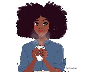 Afro, woman, and art image