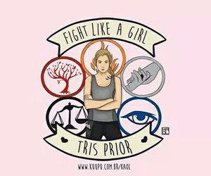 divergent, tris prior, and fight like a girl image
