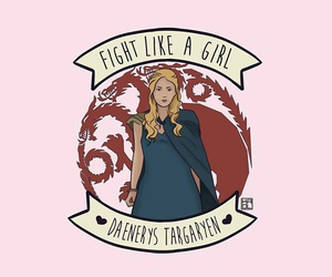 fight like a girl, game of thrones, and feminism image