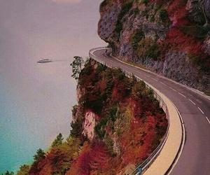 road, autumn, and landscape image