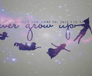 peter pan, never grow up, and disney image