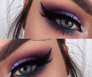 eyes, girl, and makeup image