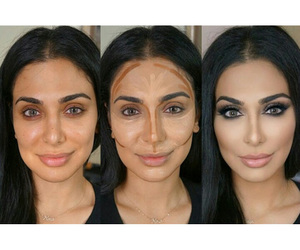 contour, makeup, and contouring image