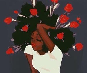 rose, art, and black image