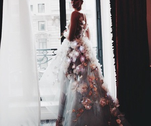 floral, gown, and wedding dress image
