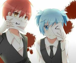 anime, karma, and nagisa image