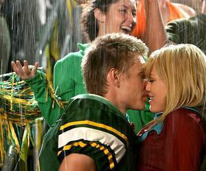 kiss, Hilary Duff, and rain image