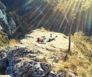 girl, hiking, and nature image