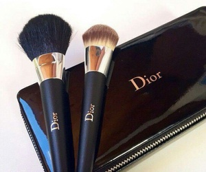 dior, makeup, and black image