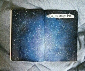 galaxy, wreck this journal, and art image