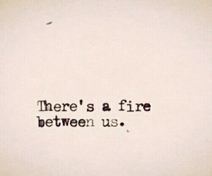 love, fire, and quotes image