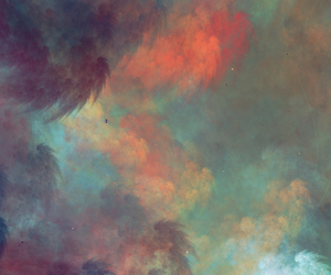 art, cloud, and colours image