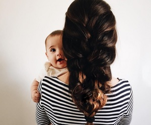 baby, family, and hair image