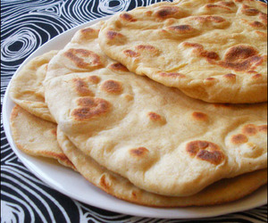 bread, food, and indian image