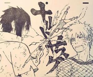 sasuke uchiha, naruto shippuden, and naruto uzumaki image