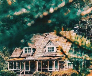 fall and house image