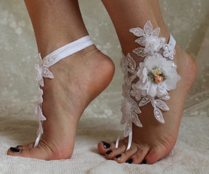 accessory, weddings, and anklet image