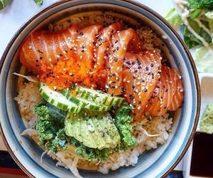 food and sashimi image