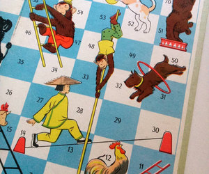 1960s, gameboard, and dice game image